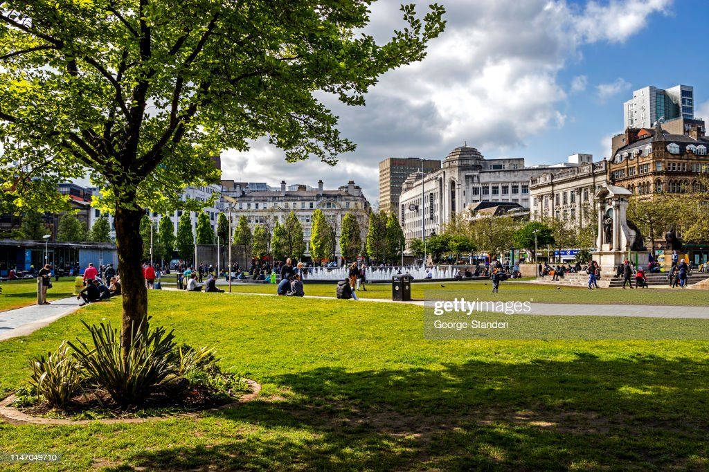 Piccadilly Gardens Manchester : Stock Photo
