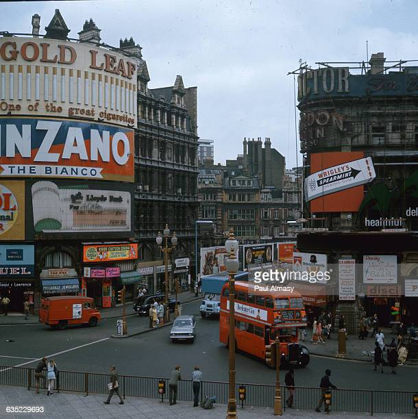 Piccadilly Square in the heart of London England