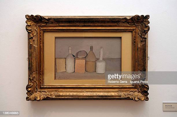 "Piccola Natura Morta con Tre Soggetti"" work in oils of 1965 by italian painter Giorgio Morandi lends by Cristina and Giuliana Pavarotti to Morandi..."