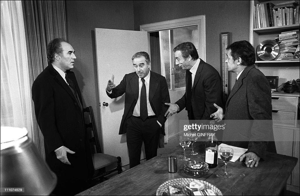 M Piccoli C Sautet Yves Montand Serge Reggiani In