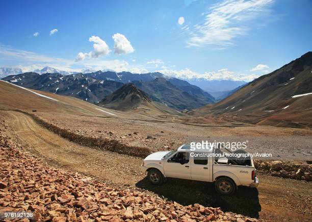 Pick Up In The Middle Of The Cordillera De Los Andes At an Elevation Of Over 4000m in the Andes A Exploration Mission For Rio Tinto In Chile