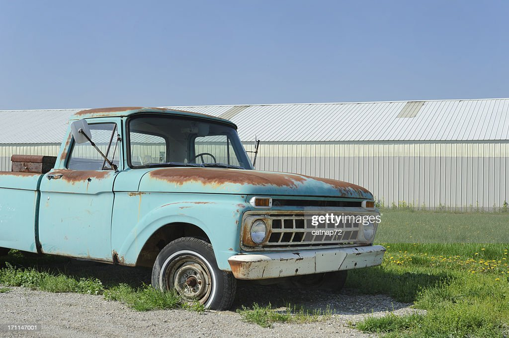 Pick Up Truck Old And Broken Down Stock Photo | Getty Images