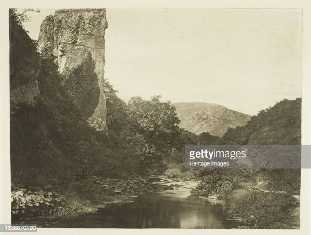 Pickering Tor, Dove Dale, 1880s. A work made of photogravure, plate xlvii from the album 'the compleat angler or the contemplative man's recreation,...