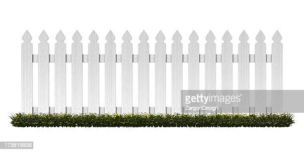 picket fence - hek stockfoto's en -beelden