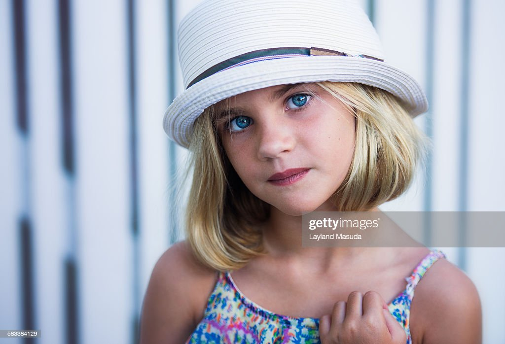 Picket Fence - Young Girl : Stock Photo