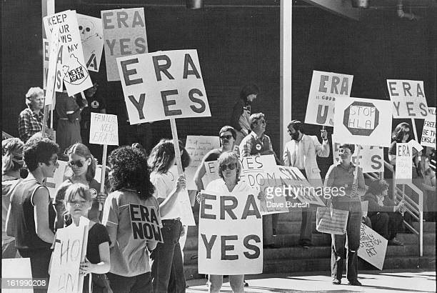 APR 25 1981 APR 27 1981 Picketes Supported Equal Rights Amendment Protested Views being discussed at Pro Family Meet
