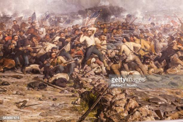 pickett's charge by peter rothermal - american civil war stock pictures, royalty-free photos & images