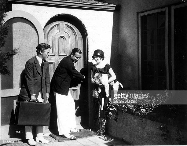 Pickford Mary Actress USA *08041893 Charly Chaplin Douglas Fairbanks sen and Pickford in Hollywood undated Vintage property of ullstein bild