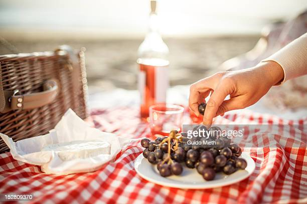 picking grapes - picnic blanket stock pictures, royalty-free photos & images