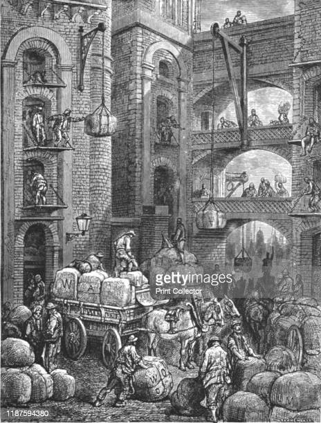 Pickle Herring Street' 1872 From LONDON A Pilgrimage by Gustave Dore and Blanchard Jerrold [Grant and Co 7278 Turnmill Street EC 1872] Artist Gustave...