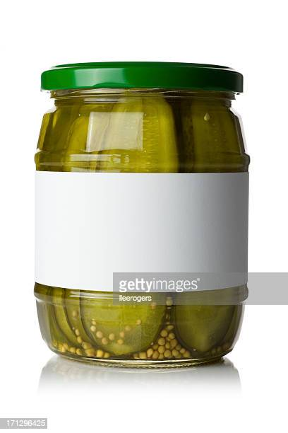 pickled gherkins - pickled stock pictures, royalty-free photos & images