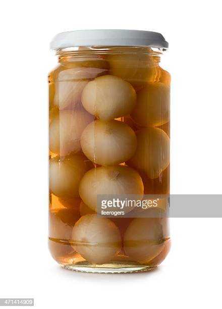 pickled onions - pickled stock photos and pictures