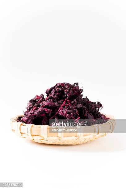 pickled shiso, perilla frutescens - shiso stock pictures, royalty-free photos & images