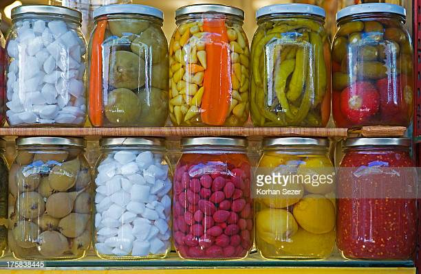 Pickled vegetables, Kadikoy, Istanbul, Turkey.