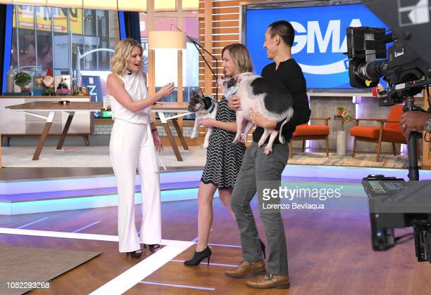 GMA DAY Pickles the Pig is a guest on GMA DAY Tuesday October 16 2018 GMA Day airs MondayFriday on the Walt Disney Television via Getty Images...