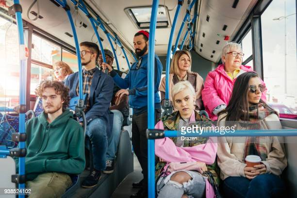 pickpocket in public bus - busy stock pictures, royalty-free photos & images