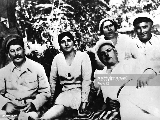 Stalin Nadia Vorochilov and his wife USSR