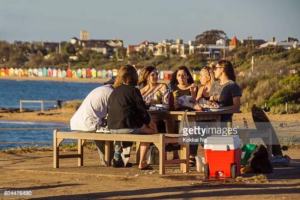 Picnic by Brighton Beach, Melbourne