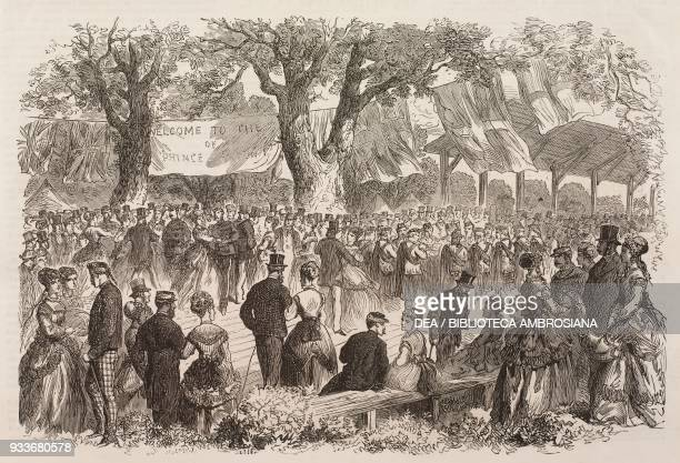 Picnic given to Prince Arthur by the citizens of Halifax, Nova Scotia, Canada, illustration from the magazine The Illustrated London News, volume LV,...