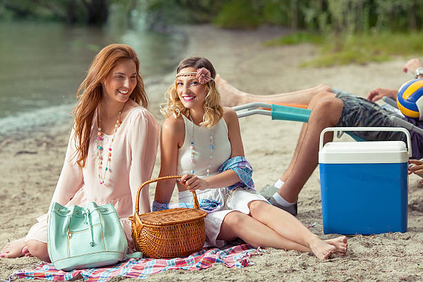 a picnic by the beach