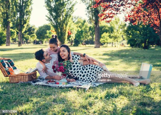 picnic on valentine's day - picnic stock pictures, royalty-free photos & images