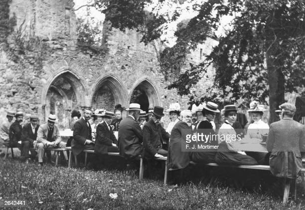 A picnic party at Netley Abbey Hampshire