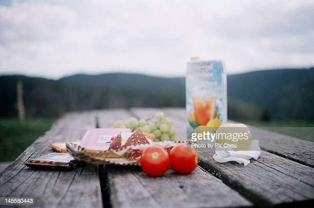 picnic - picnic table stock pictures, royalty-free photos & images