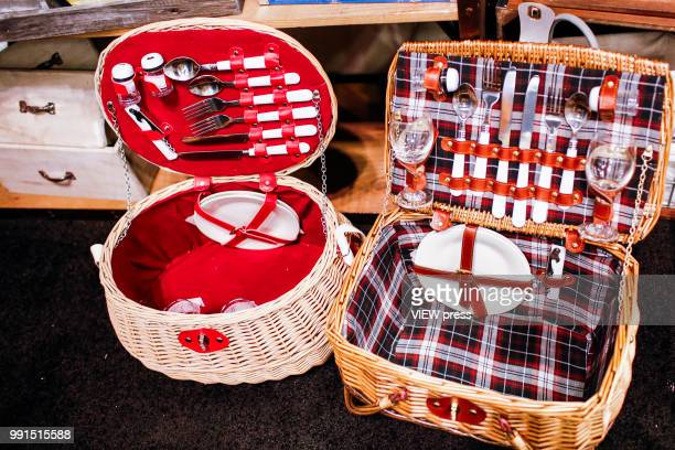 A picnic set is seen during The Summer Fancy Food Show at the Javits Center in the borough of Manhattan on July 02 2018 in New York The Summer Fancy...