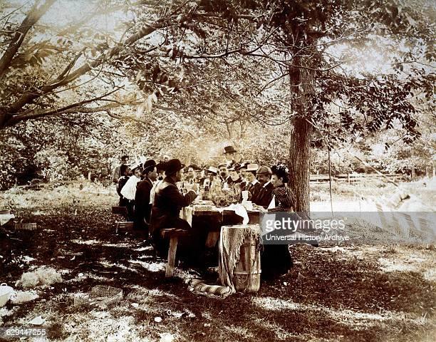 Picnic Upper New York State USA circa 1880