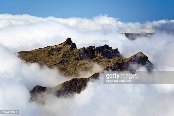 pico arieiro, madeira island, portugal - madeira island stock photos and pictures