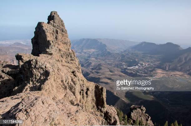 pico de las nieves - tejeda canary islands stock pictures, royalty-free photos & images