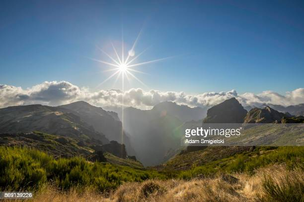 pico do arieiro • madeira (hdri) - madeira island stock photos and pictures
