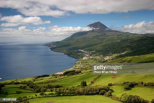 Pico south coast and volcano