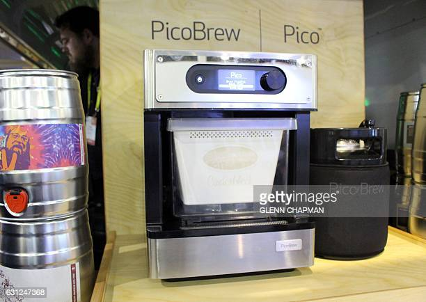A PicoBrew home beer crafting system is displayed during the Consumer Electronics Show on January 7 2017 in Las Vegas Nevada The swirl of technology...