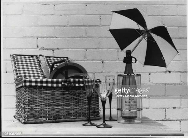 Pics for the Christmas shopping supplement***** clear acrylic wine cooler $2150 unbreakable glasses $425 and what else a brolly to shade the bottles...