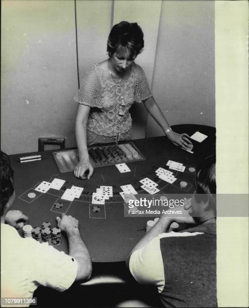 Pics from Casino International, training centre at Elizabeth Street, City.Black Jack croupier Mrs. Jacqueline Taylor, the proprietor.No faces of...