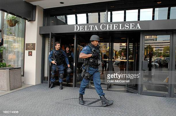 09/11/06 pics of double homicide and suicide stabbing aT DELTA chelsea hotel on gerrard st downtown/ shots of people on the 19th floor at the time...