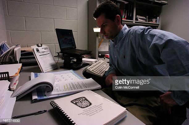 03/20/06 pics of mike neill who is a dna specialist with peel police and tests convicted murderers dna to find out whether they have committed more...