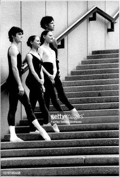 Pics show Wollongong Ballet Dancers L-R in horizontal pic-Andrew Murphy, Karina Hernandez, Belinda Hernandez, Campbell McKenzie from the Australian...