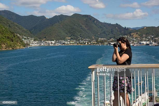 picton - cruising on the interislander - nikon stock pictures, royalty-free photos & images