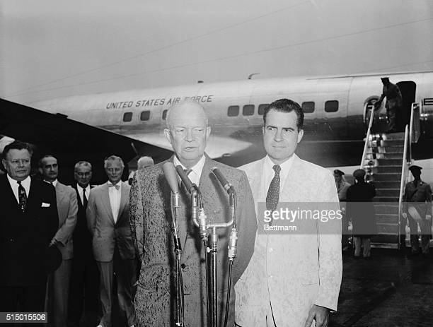 Pictorial Highlights -- Ike and Nixon 1955. Washington, D.C.: Here's a close up of President Eisenhower and Vice President Richard Nixon. This photo...