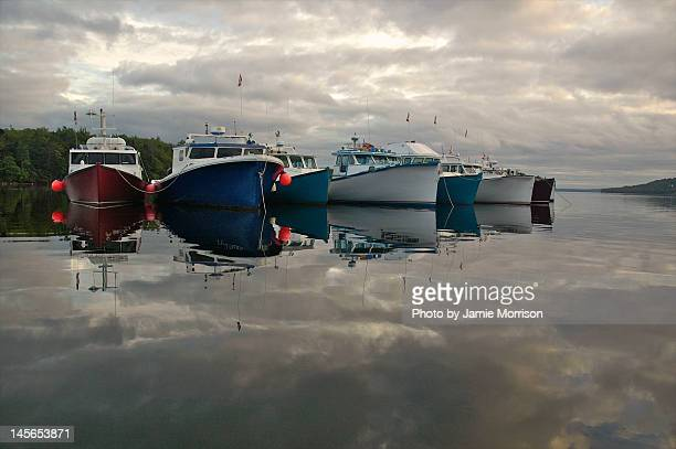 pictou boats on the bras d'or lakes - cape breton island stock pictures, royalty-free photos & images