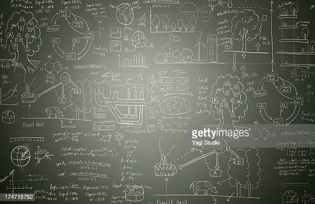 picture and formulas - blackboard stock photos and pictures