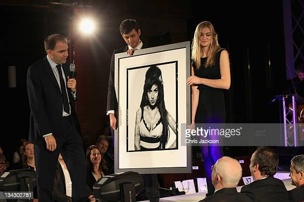Picture by Terry O'Neil of Amy Winehouse is auctioned at the Hidden Gems Photography Gala Auction in support of Variety Club at St Pancras...