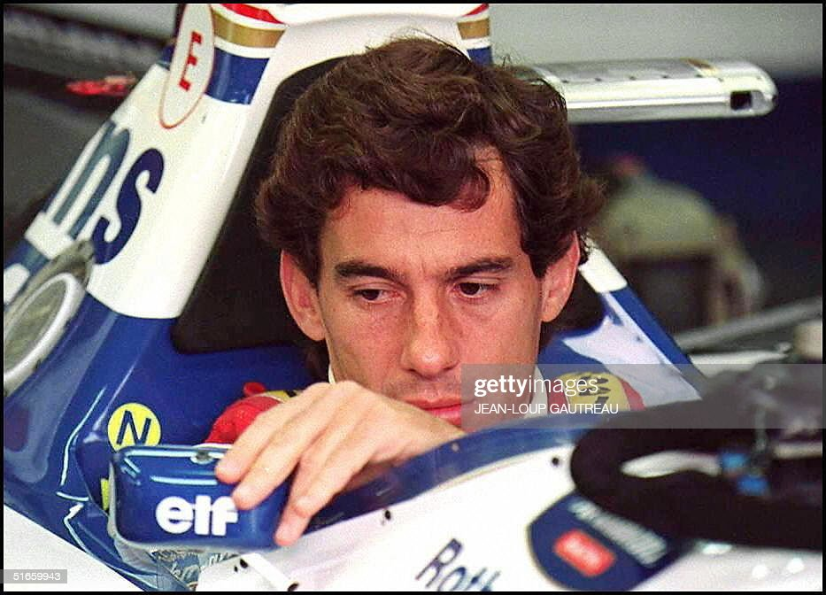 Picture dated 01 May 1994 of Brazilian F1 driver A : Nachrichtenfoto