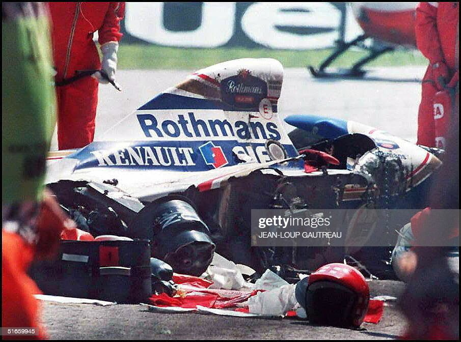 Picture dated 01 May 1994 of Brazilian F1 driver A : News Photo