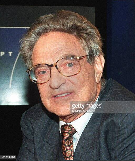 Picture dated 01 November 1996 shows Hungarianborn US financier George Soros is seen prior to the taping of a television program in Paris George...