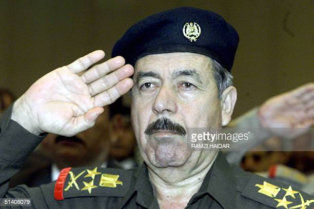 Picture dated 03 September 2002 shows Ali Hassan alMajid a senior member of Iraq's highest ruling body the Revolutionary Command Council and a cousin...