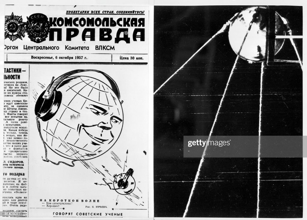 Picture dated 06 October 1957 shows the frontpage of the Sovietic newspaper Pravda after the launch of world's first satellite. On October 04 1957, the then-Union of Socialist Soviet Republics launched the world's first man-made satellite, called Sputnik. It was an event which at one sparked the so-called 'space-race' and pushed the frontiers of the Cold War outside the Earth's atmosphere.