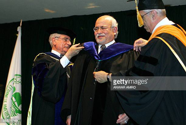 A Picture Dated 07 July 2007 Shows Lebanese Academics Helping To Put Graduation Gown On